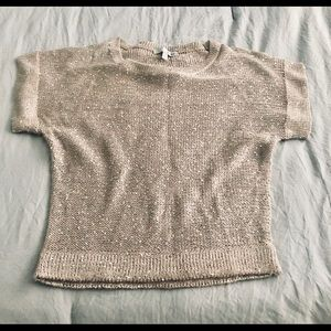 Pink/Taupe Sequins Sweater
